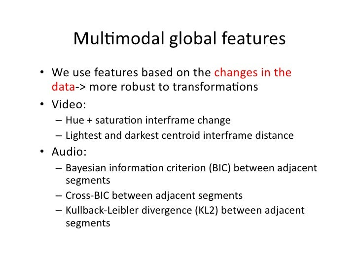 Multimodal Pattern Matching Algorithms And Applications