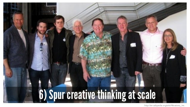 6) Spur creative thinking at scale http://en.wikipedia.org/wiki/Monsters,_Inc.