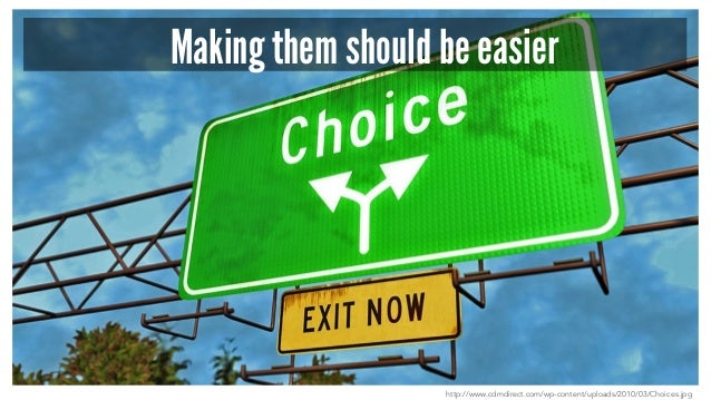 Making them should be easier http://www.cdmdirect.com/wp-content/uploads/2010/03/Choices.jpg