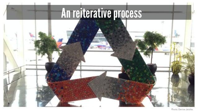 An reiterative process Photo: Denise Jacobs
