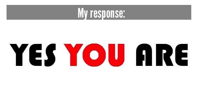 My response: