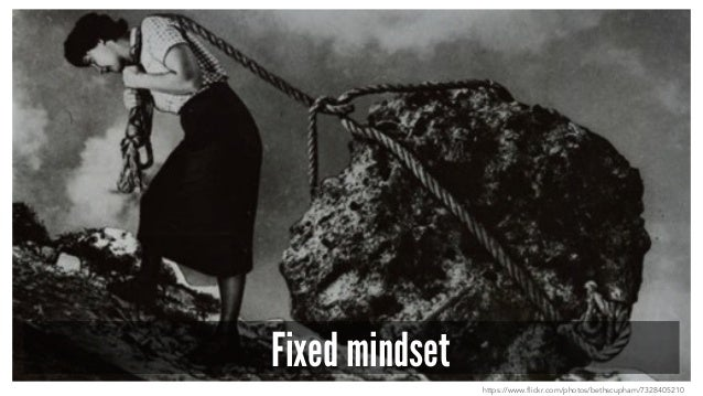 Fixed mindset https://www.flickr.com/photos/bethscupham/7328405210