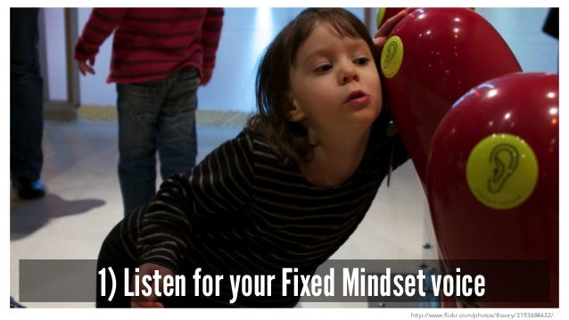 1) Listen for your Fixed Mindset voice http://www.flickr.com/photos/theory/3193684632/