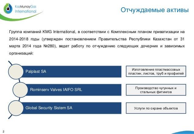 Реализация активов KMG International:  Palplast SA Slide 2