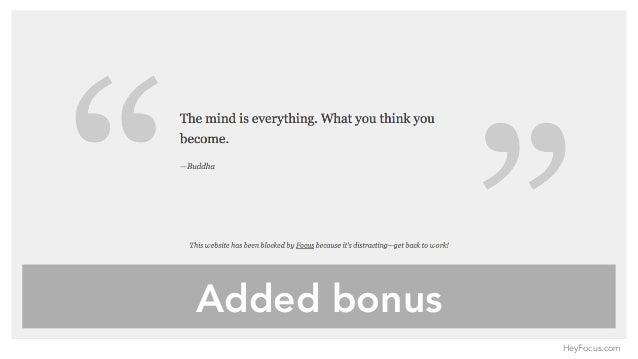 Added bonus HeyFocus.com
