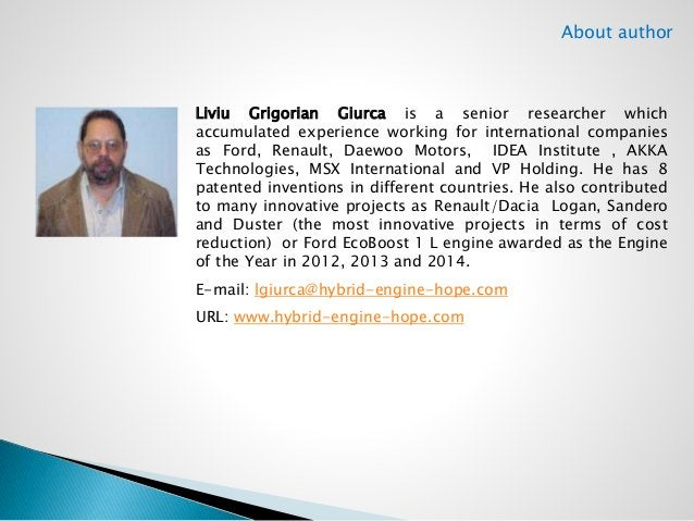 About author  Liviu Grigorian Giurca is a senior researcher which  accumulated experience working for international compan...