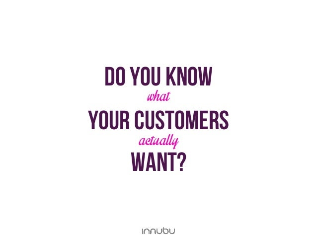 do you knowwhatYour customersactuallywant?
