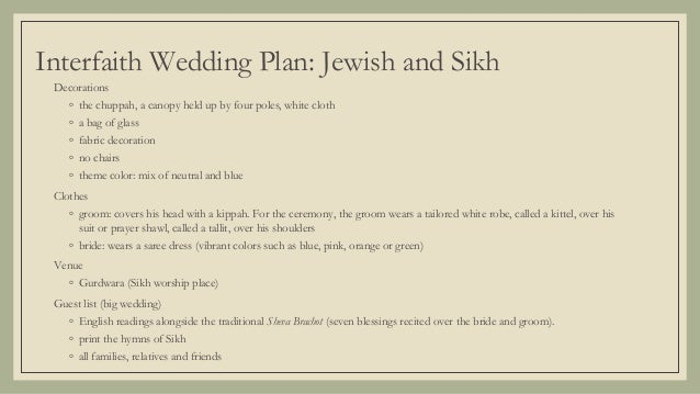 Interfaith Wedding Jewish And Sikh