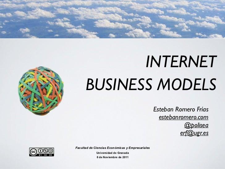 INTERNET      BUSINESS MODELS                                                  Esteban Romero Frías                       ...