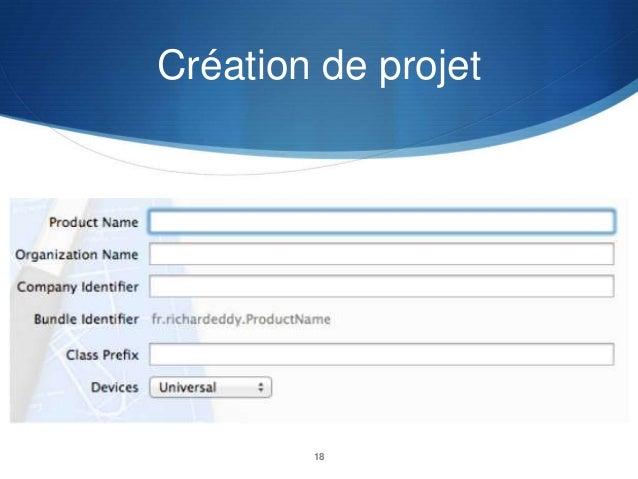 Création de projet  18