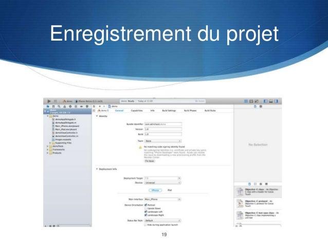 Enregistrement du projet  19