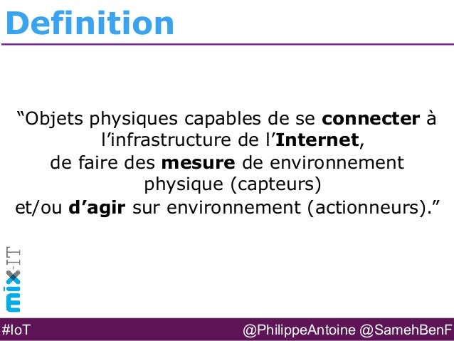 Introduction l 39 iot du capteur la donn e presentation for Definition de l