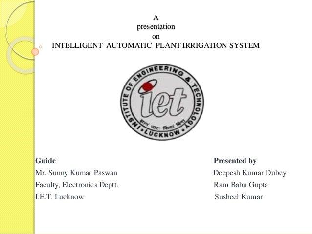 Intelligent Automatic Plant Irrigation System