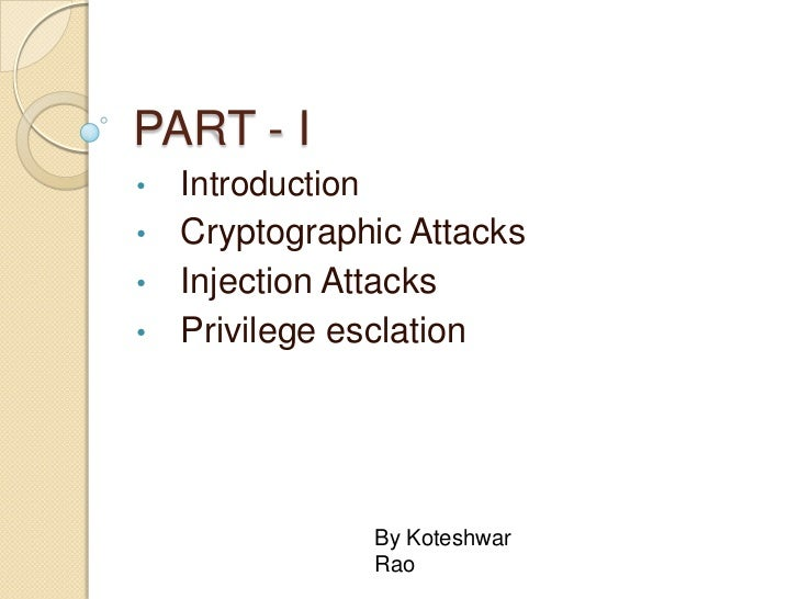 PART - I<br /><ul><li>Introduction