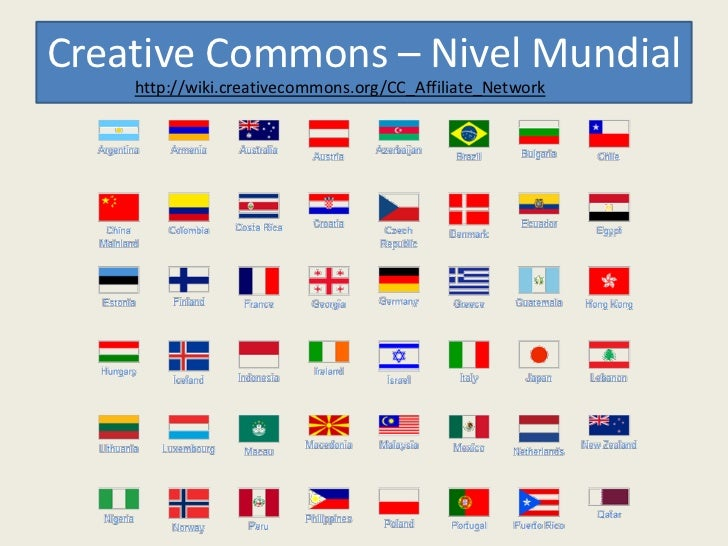 Creative Commons – Nivel Mundial    http://wiki.creativecommons.org/CC_Affiliate_Network
