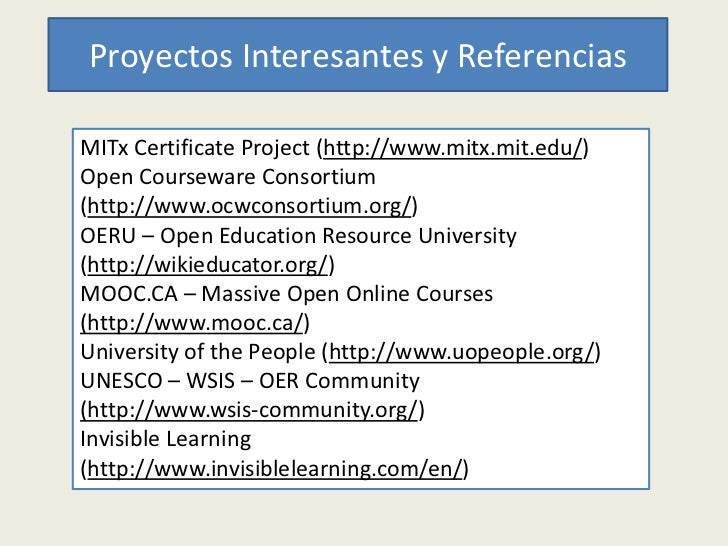 Presentacion Open Education Week 2012