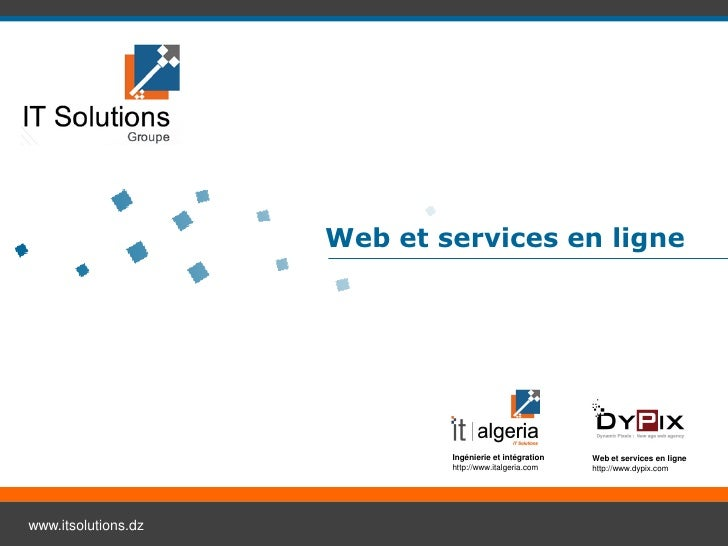 Web et services en ligne                             Ingénierie et intégration   Web et services en ligne                 ...