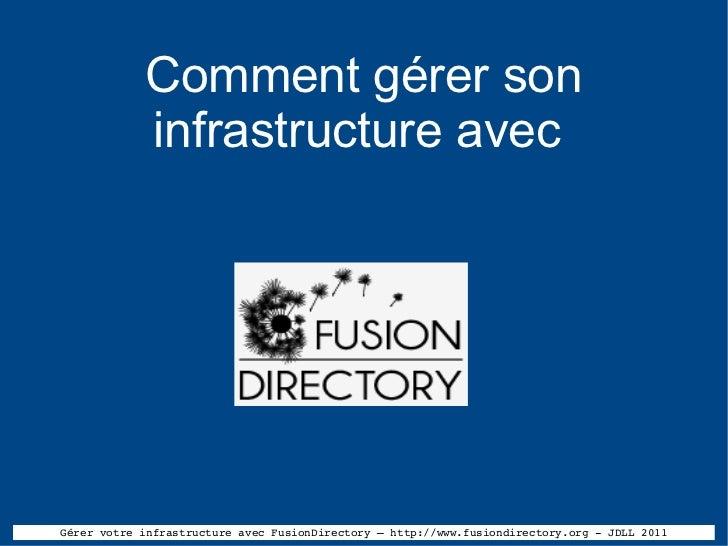 Comment gérer son infrastructure avec