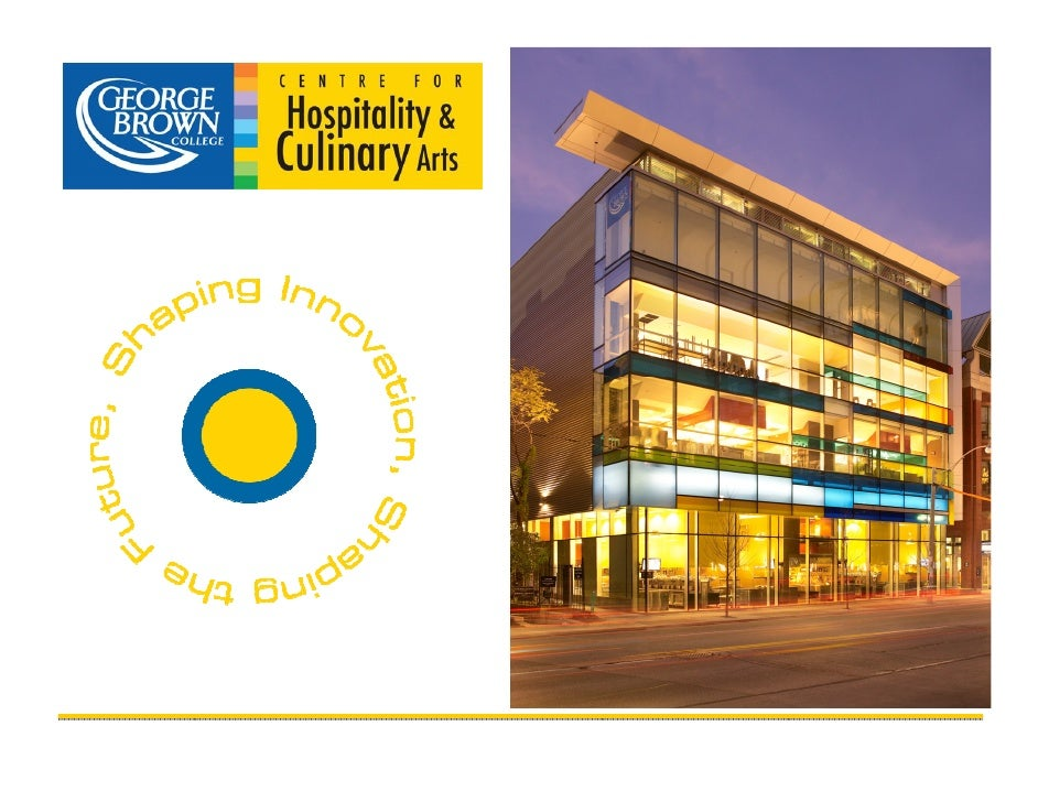 the facts  Our BRAND:   Chef School                                                over 1300 students  School of Hospitali...