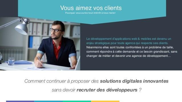 Le développement d'applications web & mobiles est devenu un enjeu stratégique pour toute agence qui respecte ses clients. ...