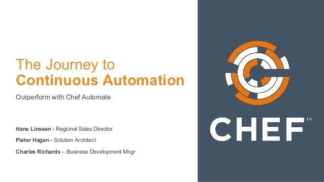 The Journey to Continuous Automation Outperform with Chef Automate Hans Linssen - Regional Sales Director Pieter Hagen - S...