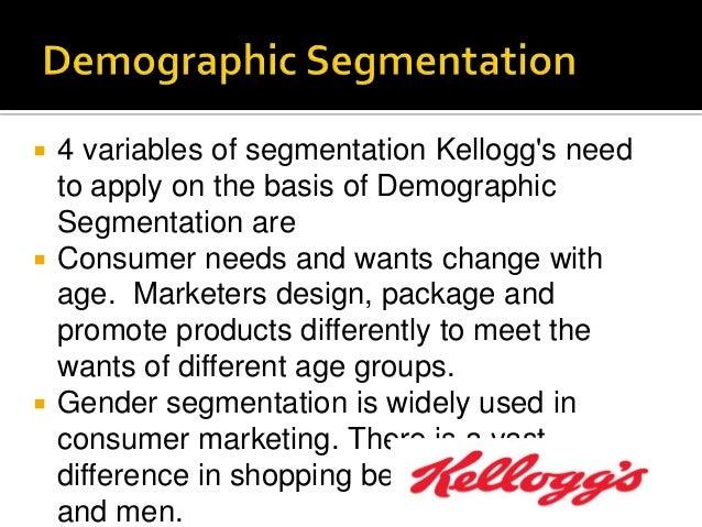 kellogg market segmentation Kellogg's market share market segmentation different brands kellogg's key financial ratios kellogg's, originally known as battle creek toasted company founded in 1906 by two brothers:.