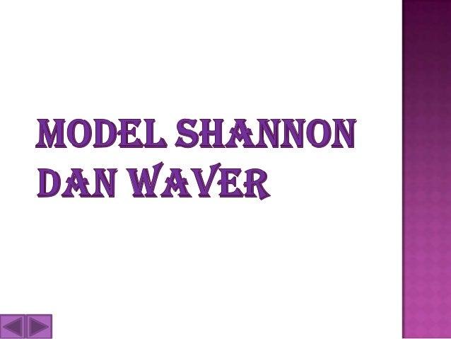 Contoh model komunikasi shannon