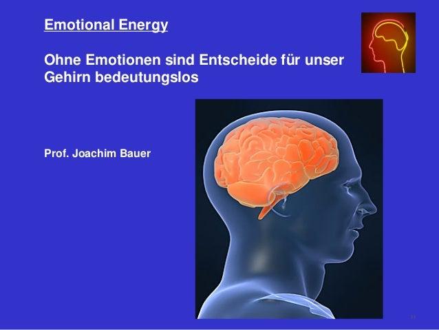 Emotional Energy Ohne Emotionen sind Entscheide für unser Gehirn bedeutungslos Prof. Joachim Bauer 55