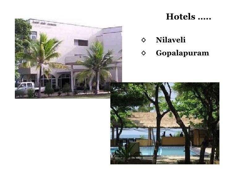 Hotels ….. ◊ Nilaveli ◊ Gopalapuram