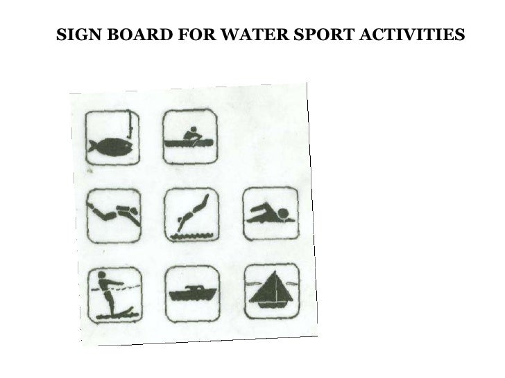 SIGN BOARD FOR WATER SPORT ACTIVITIES