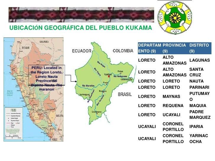 UBICACIÓN GEOGRÁFICA DEL PUEBLO KUKAMA<br />PERU: Located in the Region Loreto, Loreto Nauta Province del Distrito Nauta. ...