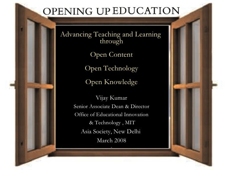 A Collaborative Publication Project Advancing Teaching and Learning  through  Open Content Open Technology Open Knowledge ...