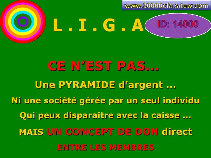 Presentation L.I.G.A  par www.30000cfa.sitew.com Slide 2