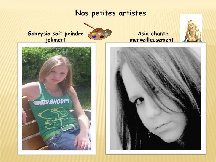 Nos petites artistes Gabrysia sait peindre joliment Asia chante merveilleusement