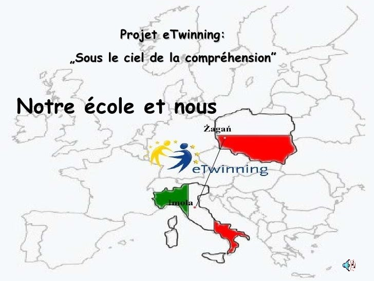 """Notre école et nous Projet eTwinning: """" Sous le ciel de la compréhension"""""""