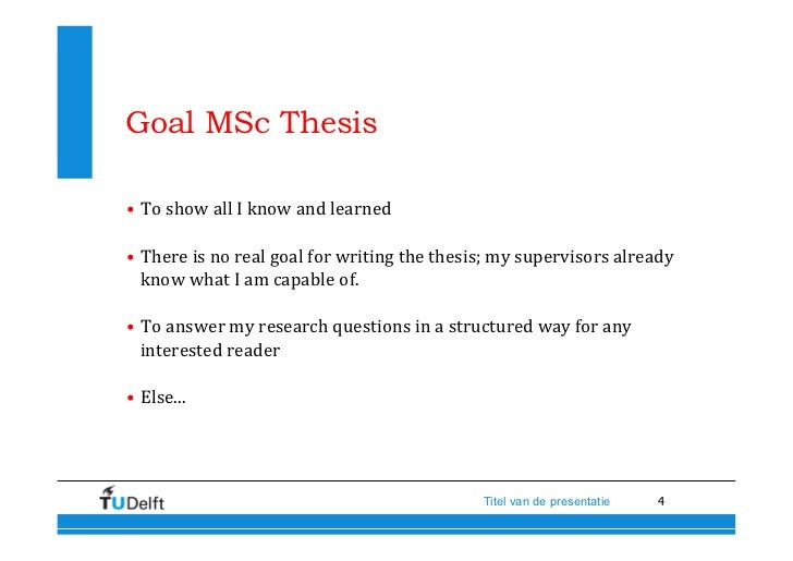 mscs thesis The degree exam, or thesis defense, for master's degree programs consists of the discussion and evaluation of a dissertation written in italian or a foreign language on a topic related to a course the student has passed an exam on.