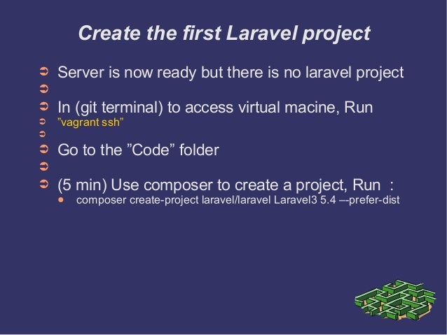 how to run a laravel project