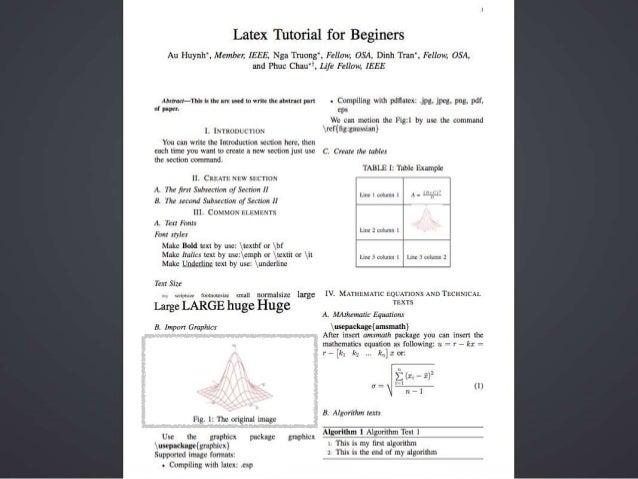 Introduction Latex