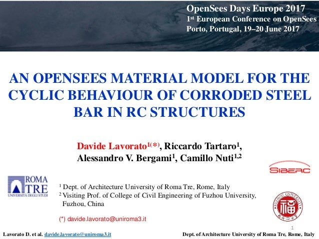 An OpenSees material model for the cyclic behaviour of