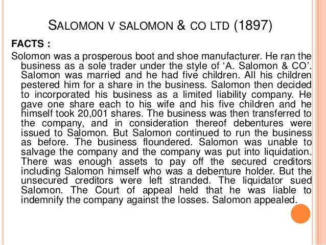 salomon and salomon & co. ltd. essay Weeks after mr buffett made his investment, salomon disclosed a surprise $70  million write-down from bad bets made by trading junk bonds.