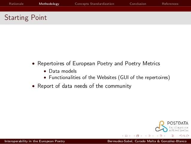 Towards Interoperability in the European Poetry Community