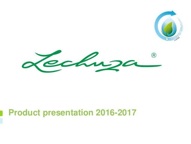 Product presentation 2016-2017