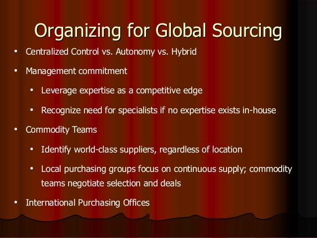 international global sourcing Global sourcing consulting - well-balanced international procurement quota sustainable, measurable savings on the entire procurement volume.