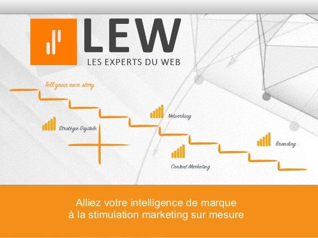 Tell your own story Content Marketing Networking Stratégie Digitale Alliez votre intelligence de marque à la stimulation m...
