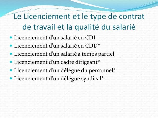 Le Licenciementaspects Juridique Et Pratiques En Algerie
