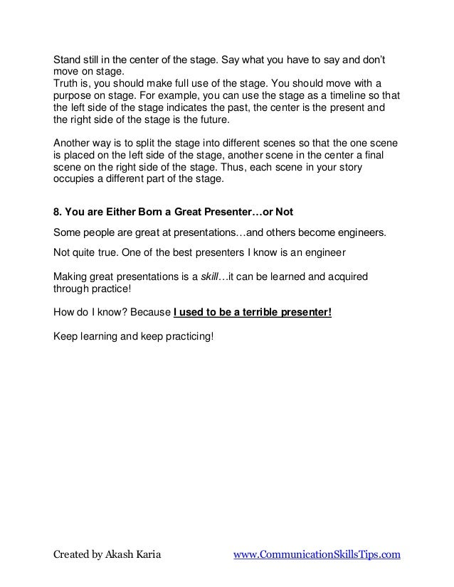 Presentation lies and myths   wrong public speaking advice Slide 3