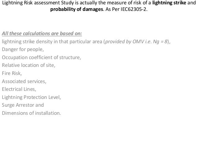 Presentation Lightniing Risk And Protection Guide Line As