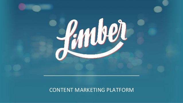 1 CONTENT MARKETING PLATFORM