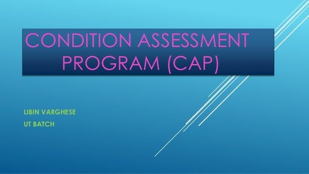CONDITION ASSESSMENT PROGRAM (CAP) LIBIN VARGHESE UT BATCH