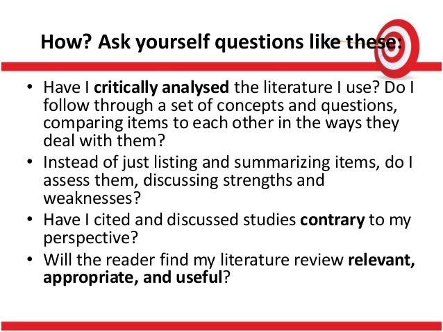 writing review of related literature and study